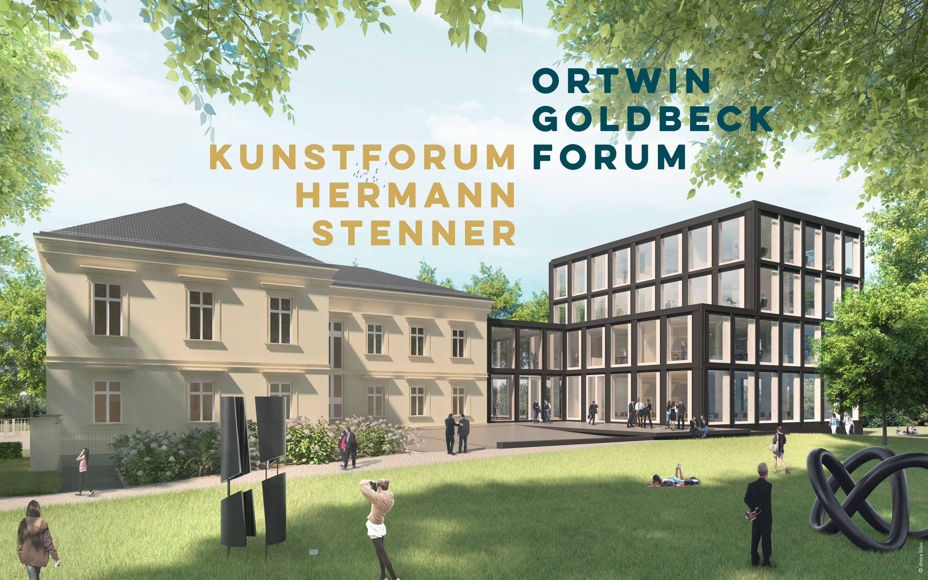 Visualisierung Ortwin Goldbeck Forum / Kunstforum Hermann Stenner